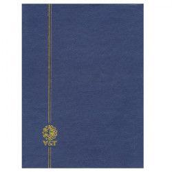 Classeur Perfecta grand modèle 64 pages blanches pour timbres-poste.