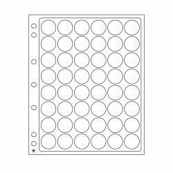 Feuilles plastique Encap à 48 cases rondes pour capsules 22 à 23 mm.