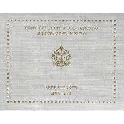 Série Euro Vatican 2005 - Siège Vacant en coffret BU. Très rare.