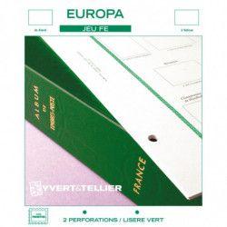 Intérieur FE timbres d'Europa 2006-2010 sans pochettes.