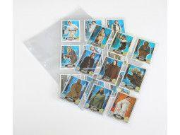 Feuilles transparentes Lindner conçues pour carnets, bandes, roulettes de timbres.