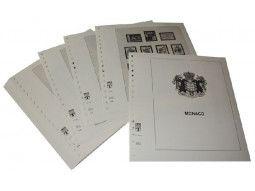 Album philatélique Lindner-T pour collectionner les timbres de Monaco parus depuis 1885 à nos jours.