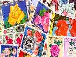 Pochettes de timbres thématique sur les fleurs, fruits sélectionnées avec soin pour compléter votre collection.