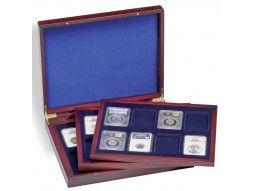 Coffret numismatique Volterra Leuchtturm pour monnaies euro, 2 euros commémoratives, monnaies du monde.