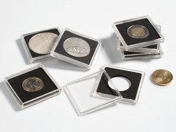 Capsules numismatiques carrées Quadrum Leuchtturm sont adaptées pour monnaies précieuses.