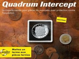 Capsules numismatiques Quadrum Intercept garanties anti-corrosion 15 ans.