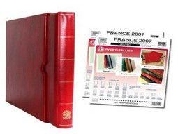 Album philatélique Yvert et Tellier pour collectionner les timbres de France, Monaco et Dom-Tom.