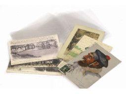 Pochettes plastiques transparentes pour cartes postales de collection
