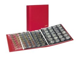 Album numismatique Publica M Color Lindner pour collectionner monnaies anciennes, modernes.