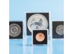 Capsules numismatiques carrées Quadrum mini pour monnaies du monde.