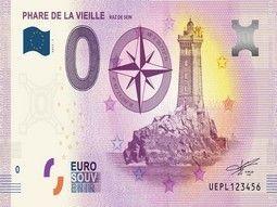 Billets Euro Souvenir de sites touristiques pour collectionner.